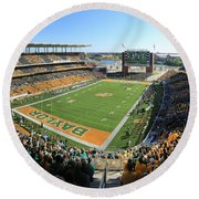 Baylor Gameday No 5 Round Beach Towel by Stephen Stookey