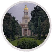 Baylor University Icon Round Beach Towel by Joan Carroll