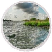 Bayou Sale Fishing Hole Round Beach Towel