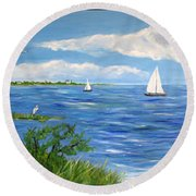 Bayville Trio Round Beach Towel