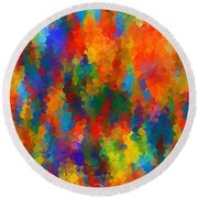 Be Bold Round Beach Towel by Lourry Legarde