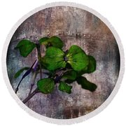 Round Beach Towel featuring the mixed media Be Green by Aaron Berg