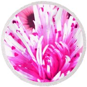 Be My Valentine Round Beach Towel by Belinda Lee