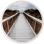 Beach Access Hilton Head Round Beach Towel