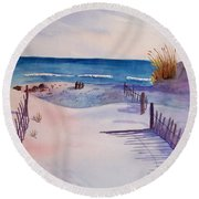 Beach Afternoon Round Beach Towel