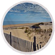 Beach At Cape Henlopen Round Beach Towel