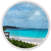 Beach At Tippy's Round Beach Towel