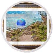 Beach Ball Dreamland Round Beach Towel