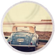 Beach Bum Round Beach Towel