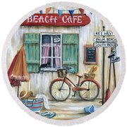 Beach Cafe Round Beach Towel
