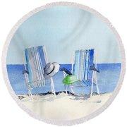 Beach Chairs Round Beach Towel