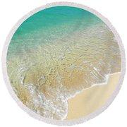 Golden Sand Beach Round Beach Towel