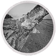 Beach Driftwood View Round Beach Towel
