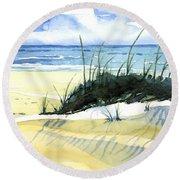 Beach Dunes Round Beach Towel