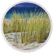 Beach Gras Round Beach Towel by Juergen Klust