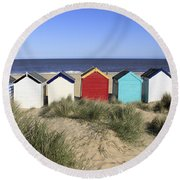Southwold Beach Huts Uk Round Beach Towel