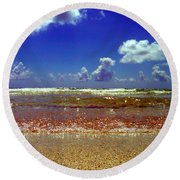 Round Beach Towel featuring the photograph Beach by J Anthony