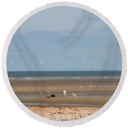 Beach Round Beach Towel by Spikey Mouse Photography