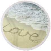 Beach Love Round Beach Towel