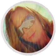 Round Beach Towel featuring the photograph Beach Luv'n Belle by Kelly Nowak