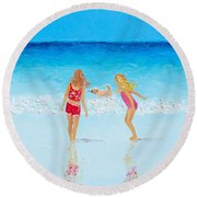 Beach Painting Beach Play Round Beach Towel