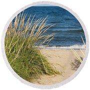 Beach Path Round Beach Towel by Barbara McMahon