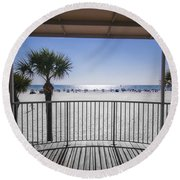 Beach Patio Round Beach Towel