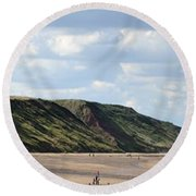 Beach - Saltburn Hills - Uk Round Beach Towel