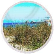 Beach Serenity Round Beach Towel