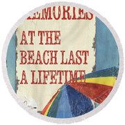 Beach Time 3 Round Beach Towel