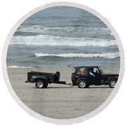 Round Beach Towel featuring the photograph Beach Toys by E Faithe Lester