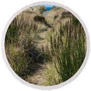 Beach Trail Round Beach Towel by Tikvah's Hope