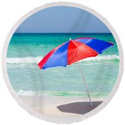 Beach Umbrella Round Beach Towel by Shelby  Young