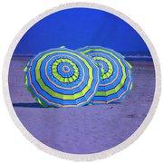 Beach Umbrellas By Jan Marvin Studios Round Beach Towel