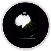 Beacon Of Light Round Beach Towel by Anthony Fishburne