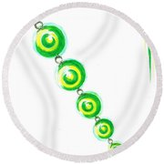 Beaded Chain Round Beach Towel by Teresa White
