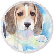 Beagle Baby Round Beach Towel
