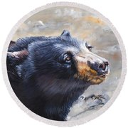 Four Winds Bear Round Beach Towel