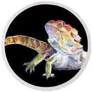 Bearded Dragon Round Beach Towel