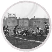 Bears Are 1933 Nfl Champions Round Beach Towel by Underwood Archives