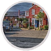 Bearskin Neck Round Beach Towel