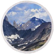 Beartooth Mountain Round Beach Towel