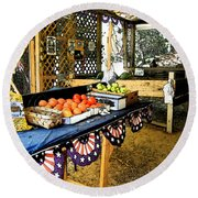 Beasley's Produce Round Beach Towel
