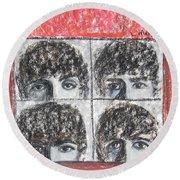 Beatles Hard Day's Night Round Beach Towel
