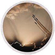 Round Beach Towel featuring the photograph Beautiful 5 by Paul Job