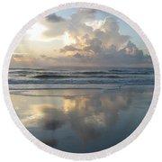Beautiful Beach Sunrise Round Beach Towel