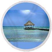 Beautiful Belize Round Beach Towel