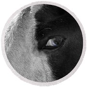 Beautiful Blind Soul Horse Round Beach Towel