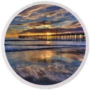 Beautiful Cayucos Round Beach Towel