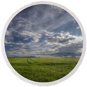 Beautiful Countryside Round Beach Towel